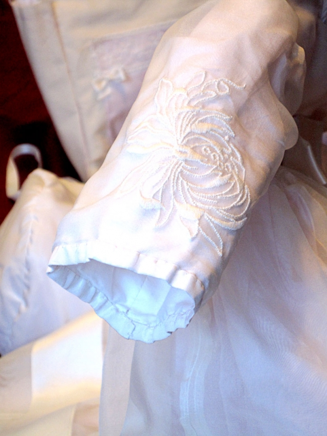 Christening gown sleeve detail