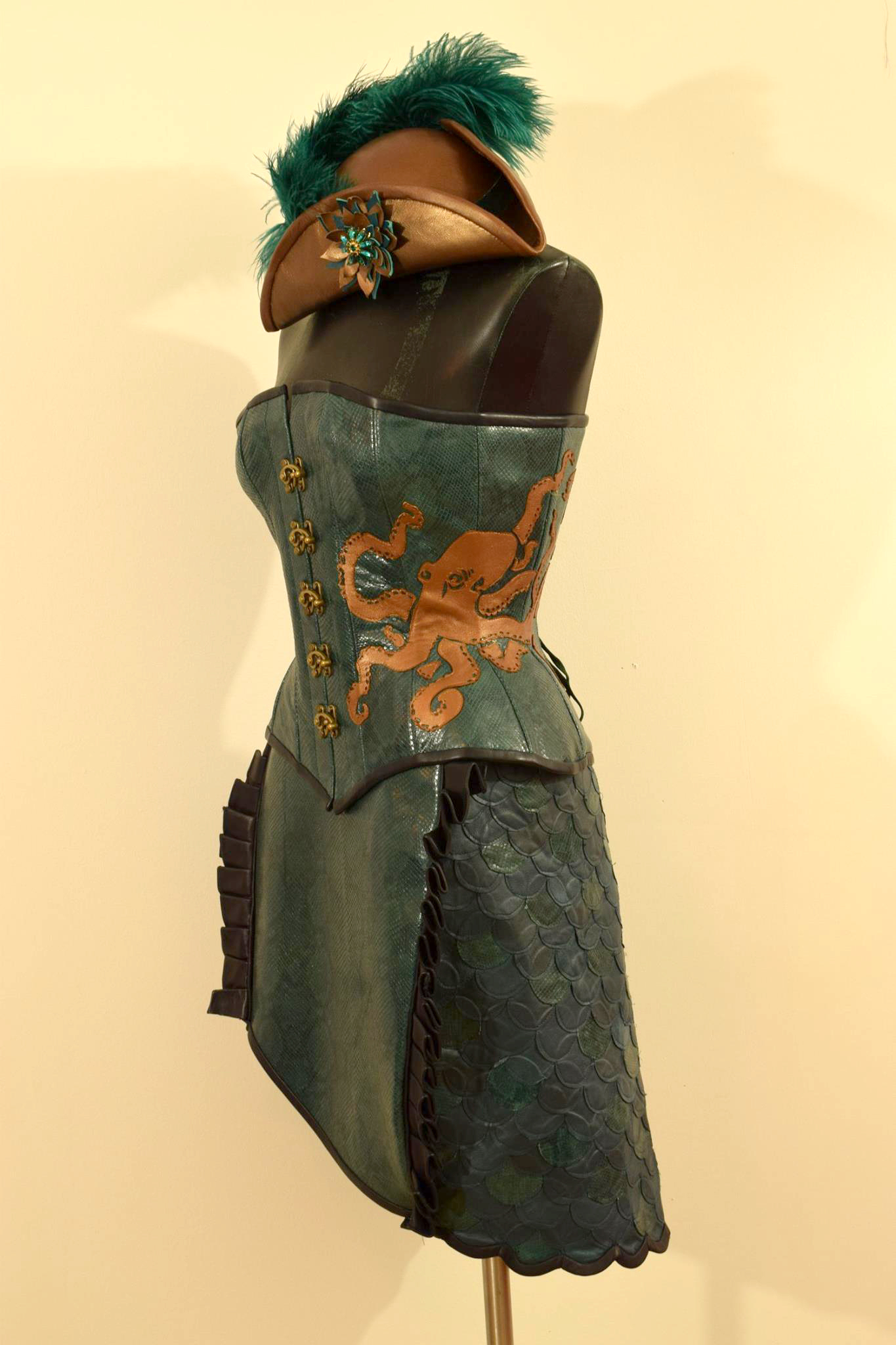 steampunk leather mermaid ensemble