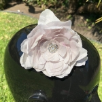 silk white magnolia hair flower