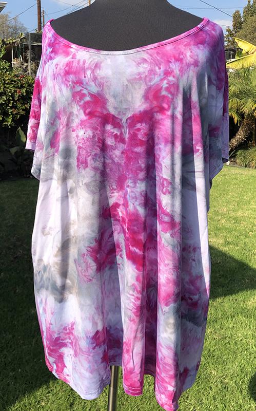 Ice dyed rayon jersey tunic