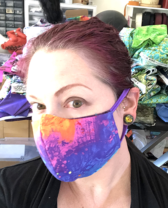rainbow mask, fitted