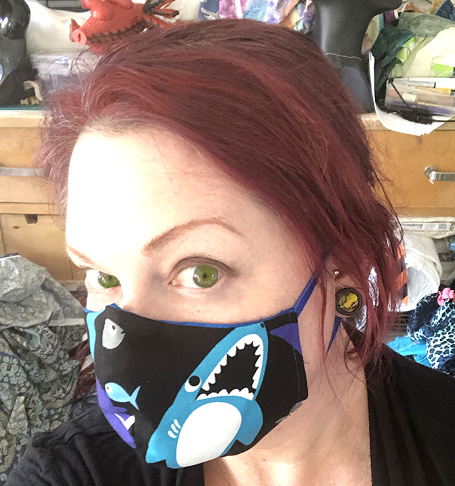 Sharkmask! Part 2! the Sharkening! fitted mask